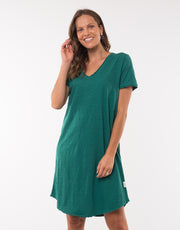 Elm Mary Textured Tee Dress