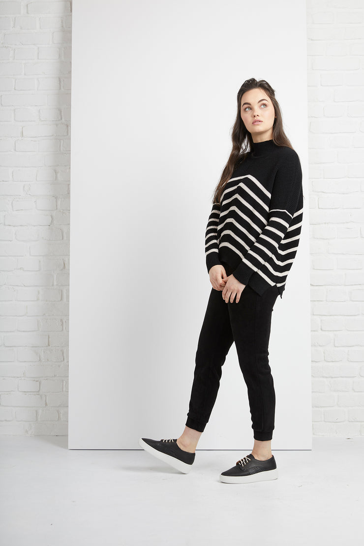 Siren Black Dune Stripe Detail Jumper