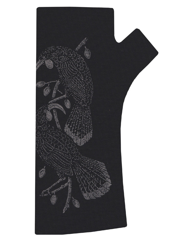 Kate Watts Black Huia Print Glove