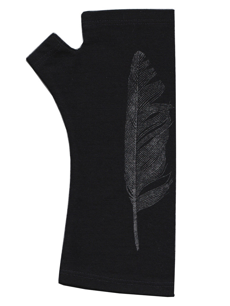 Kate Watts Black Feather Print Glove