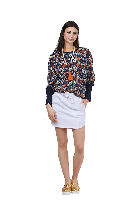 Charlo Pheonix Skirt White Denim