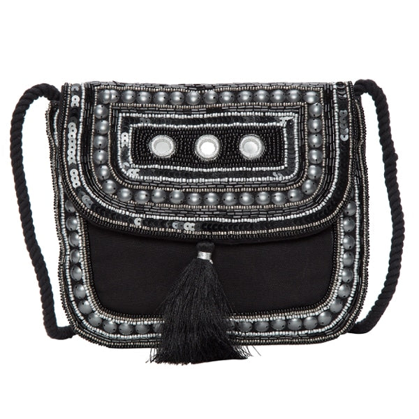 Design Edge Jacquard Beaded Bag