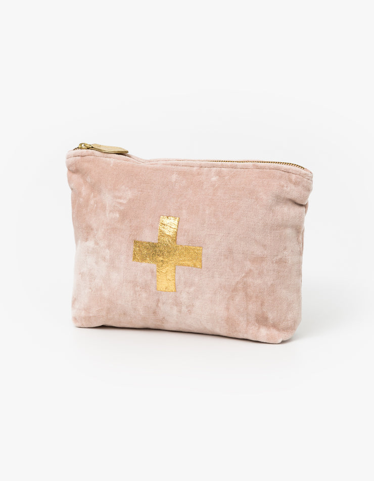 Stella & Gemma blush velvet with gold cross