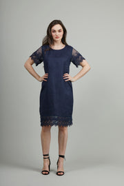 Siren Vintage Lace Trim Dress