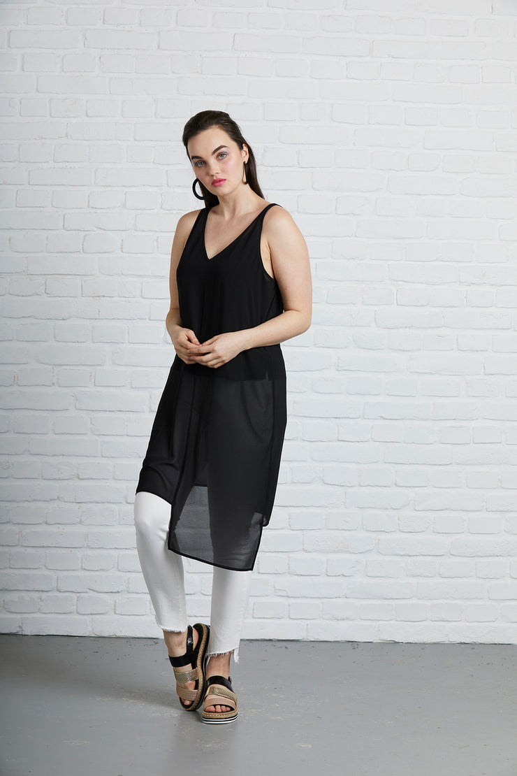 Siren Asymmetric Step Hem Tunic