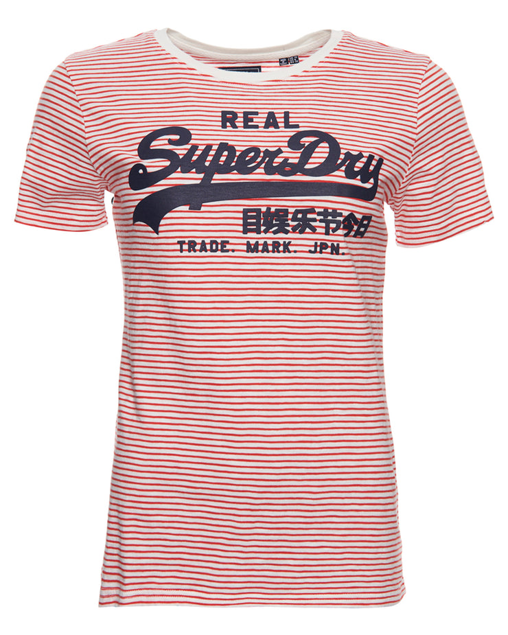 Superdry Vintage Logo Stripe Entry Tee