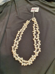 KC double strand pearl necklace