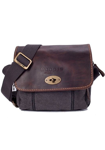 Troop Heritage Leather & Canvas Body Bag