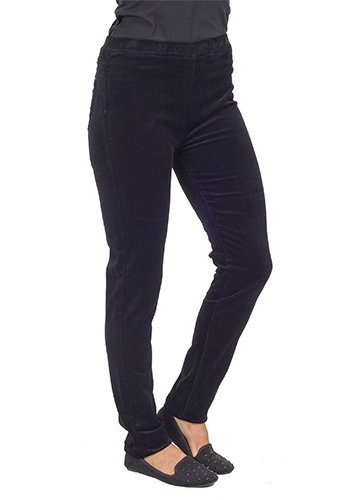 Vassalli Pull on Stretch Legging - Black