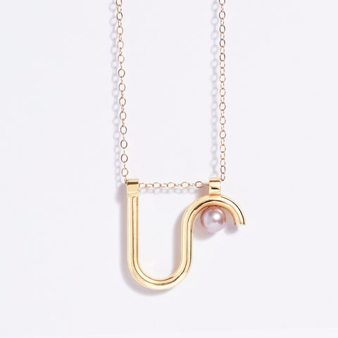 Arco necklace- 14k gold
