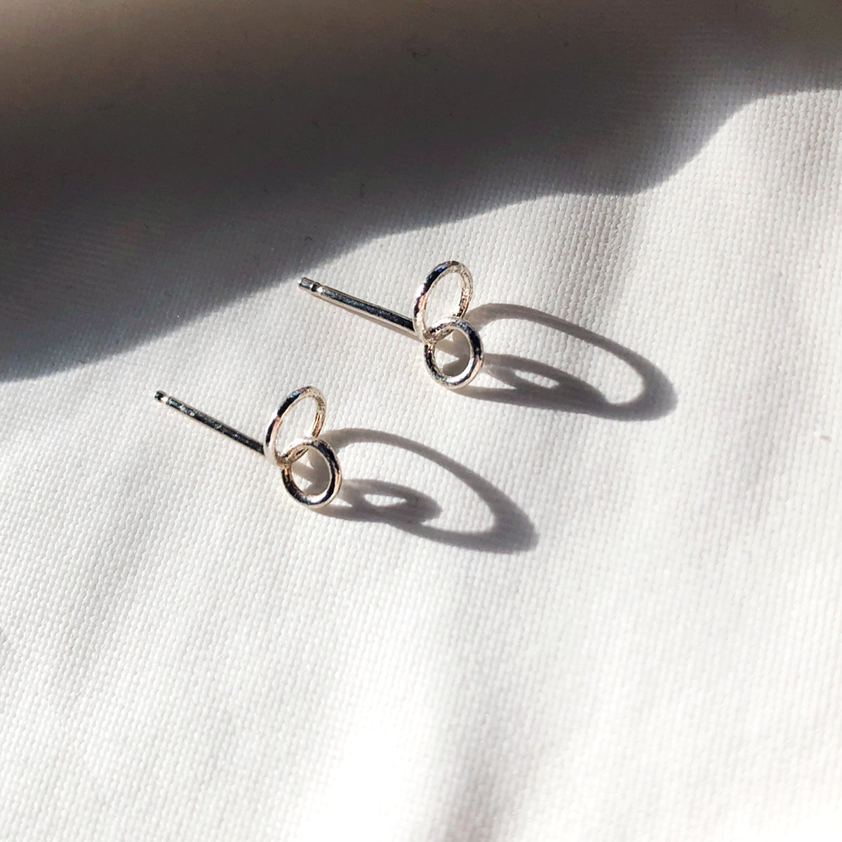 Circuit stud earrings- Silver