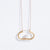 Metalepsis minimal pearl Ito necklace 14k gold
