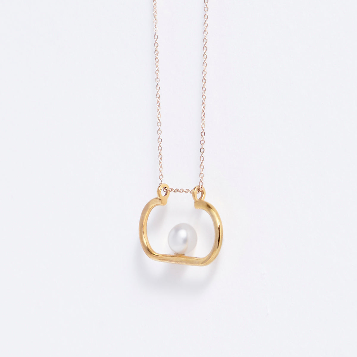 Metalepsis minimal modernist pearl Ito necklace 14k gold