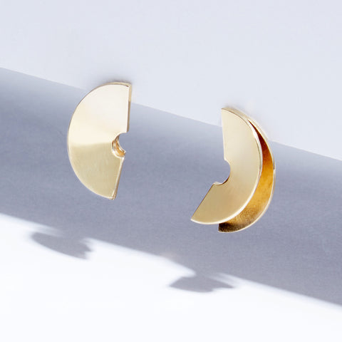 Metalepsis Lygia Earrings - brass