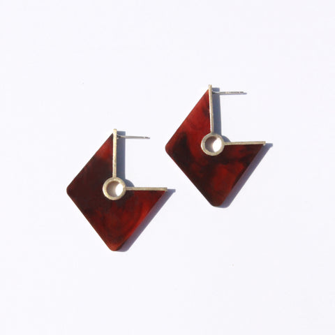 Metalepsis Projects NeoNeo Rhombi Earrings Tortoise