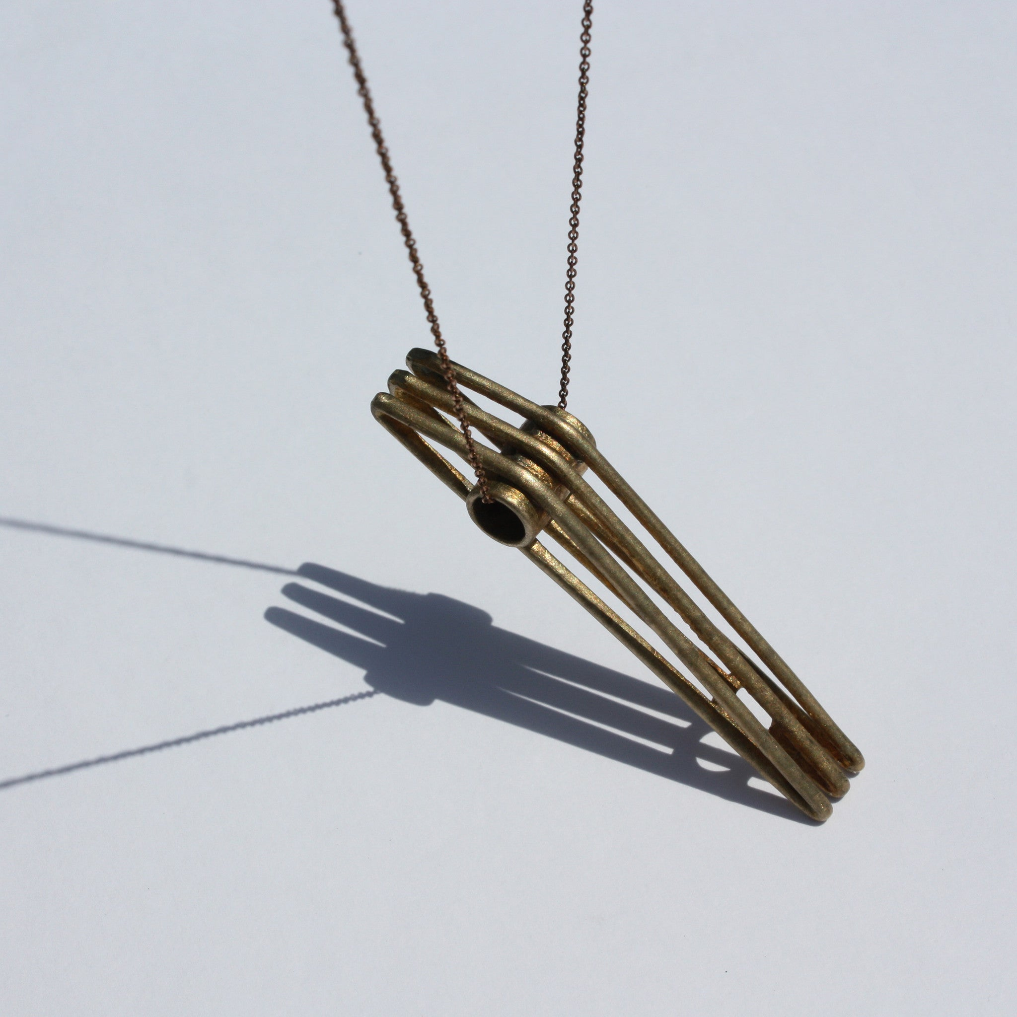 Bridge Necklace - unfinished bronze