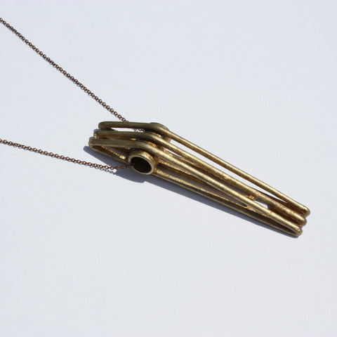 Metalepsis Projects Bridge Necklace - unfinished bronze
