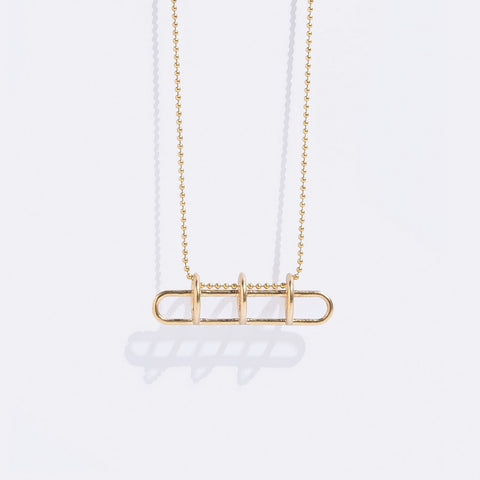 Metalepsis Circuit Necklace Brass