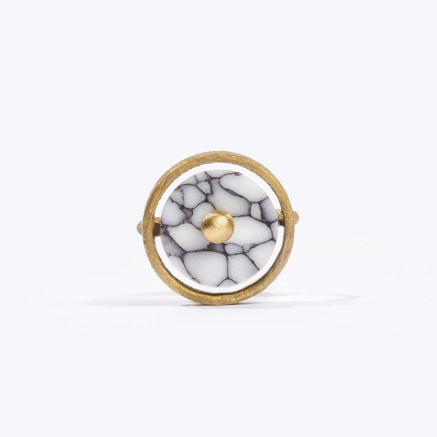 Disc Ring White Front