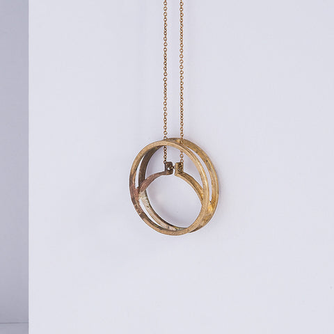 eclipse necklace - unfinished bronze
