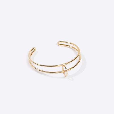 Mobius Float Cuff in Brass