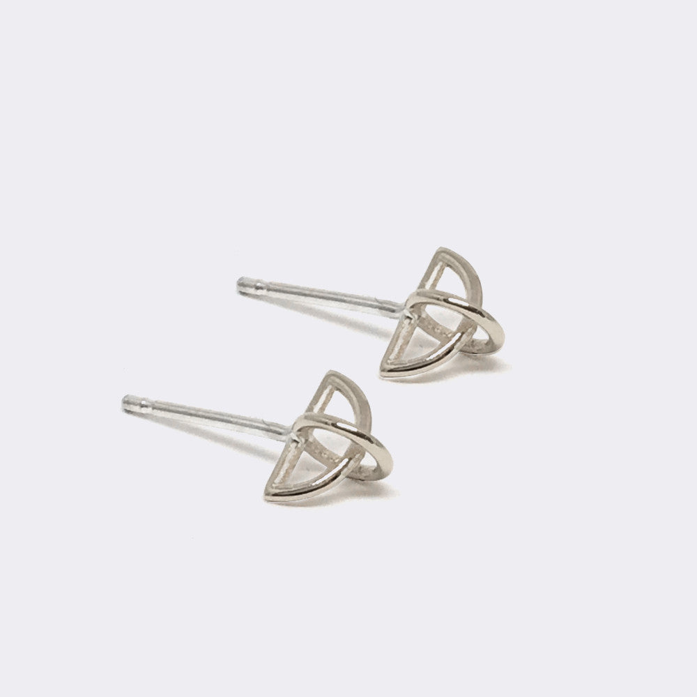 float earring sterling silver