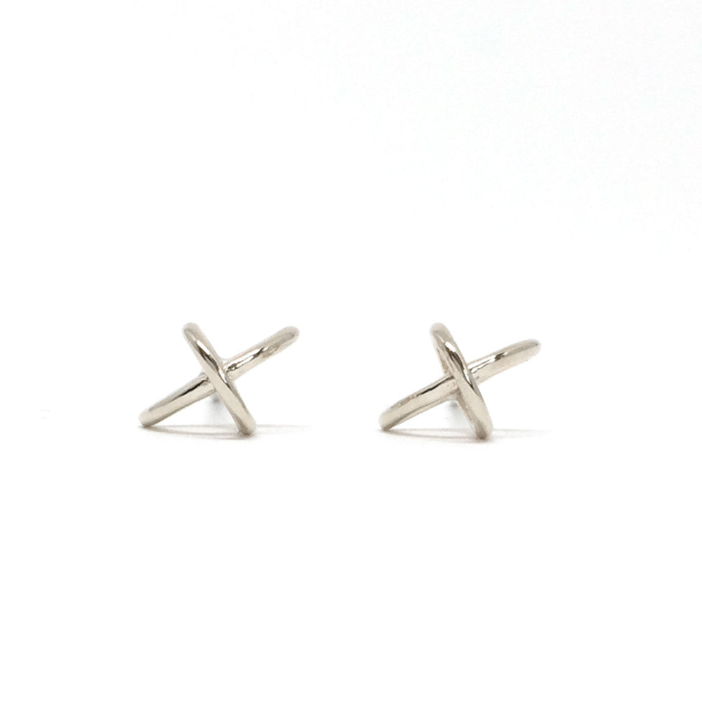 float earring sterling silver front