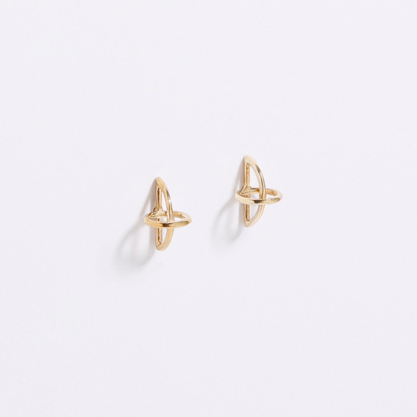 float earrings in brass