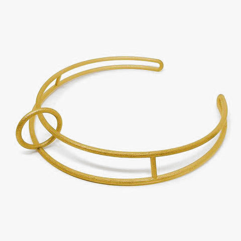 Float Collar - Gold Plated Stainless Steel