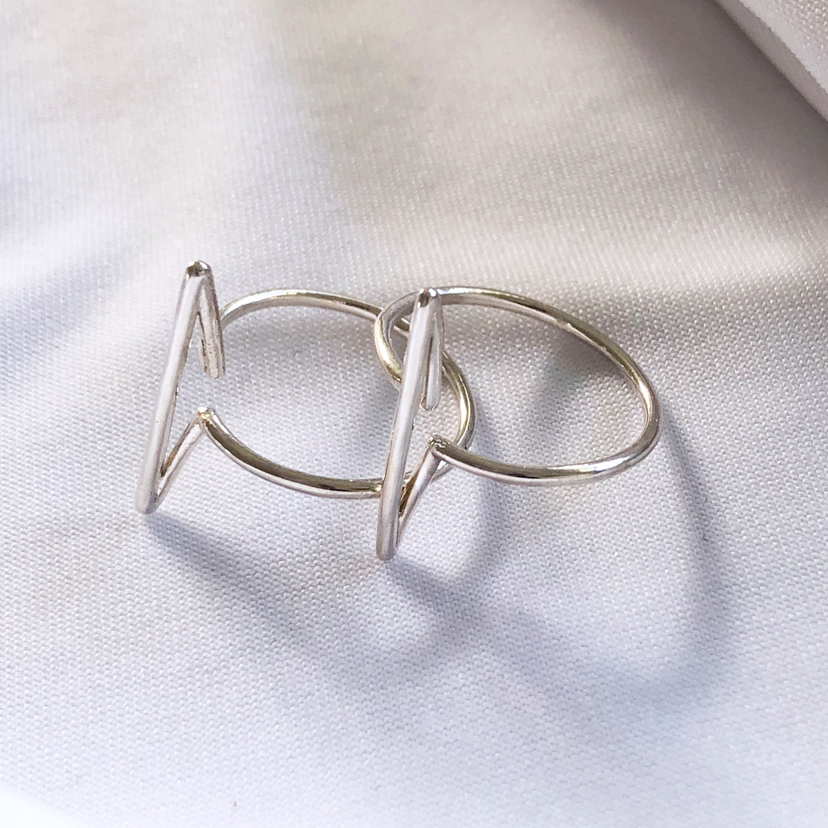 Infinity Bar ring - Sterling silver