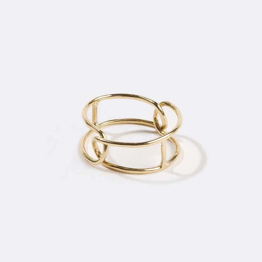 Interlocking Ring Brass