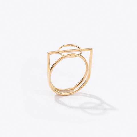 mobius ring brass