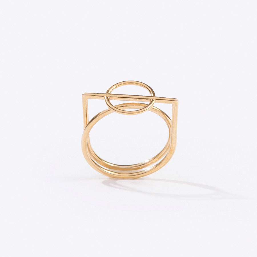 Metalepsis Projects Mobius Ring in Brass