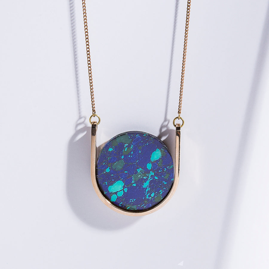 Neutron Necklace - high polished bronze