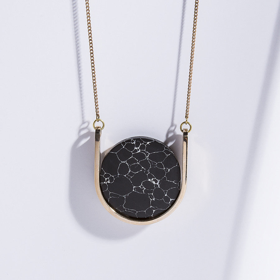 Metalepsis Neutron Necklace - high polished bronze