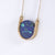 Metalepsis Neutron Necklace - blue stone