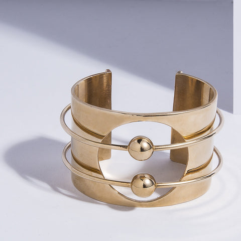 Orbit Cuff - high polish bronze