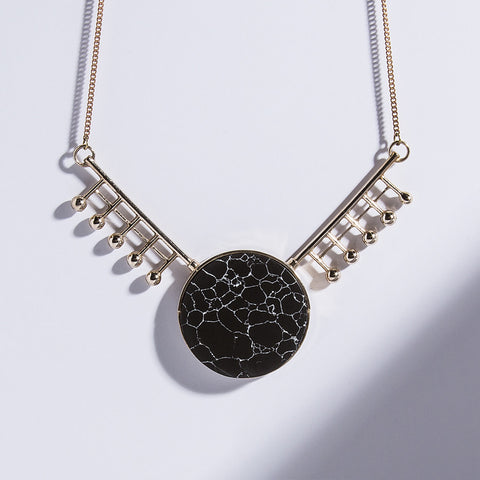 Metalepsis Orbital Necklace - high polish