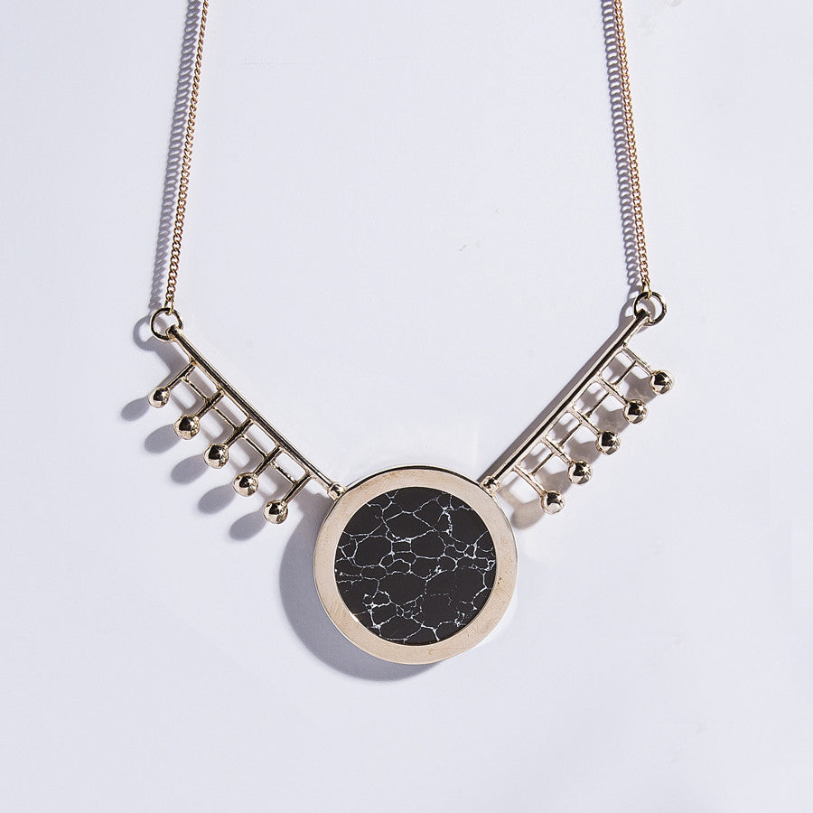 Metalepsis Orbital Necklace - back