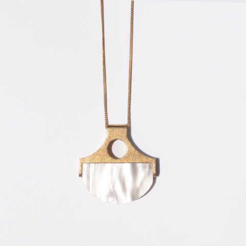Metalepsis NeoNeo neo-classical pendant pearlescent brass