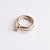 Ternary Ring Silver and Brass