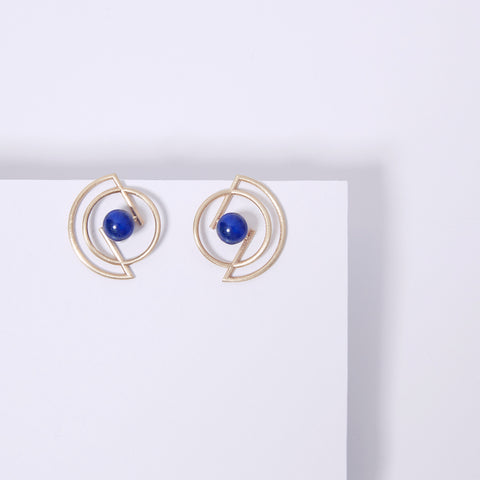 Volten Earrings- Lapis