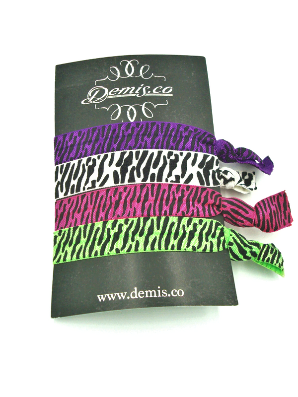 Zebra Hair Ties
