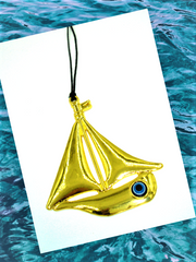 Sailboat Evil Eye Decor