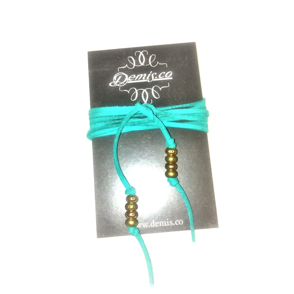 Teal Wrap Necklace