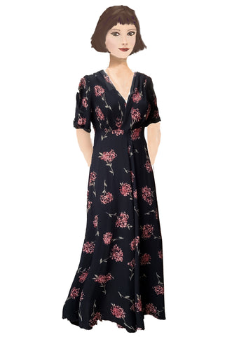 Stanwyck dress-30's Mum print
