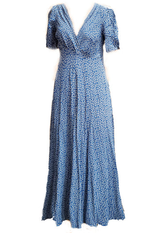Stanwyck Dress- Blue Ditsy