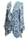 Silk Flutter jacket-Blue Paisley