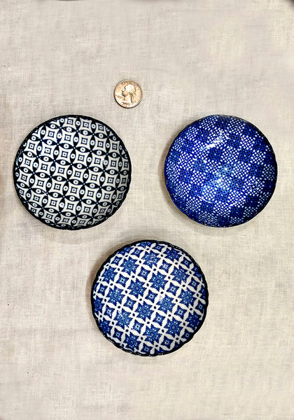 Little blue plates-set of 3