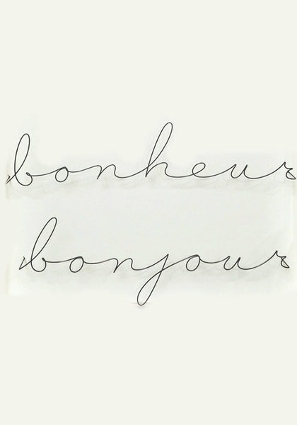 French Wire Signage - Bonjour & Bonheur